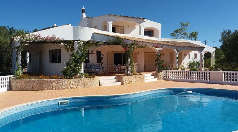 Villa from pool
